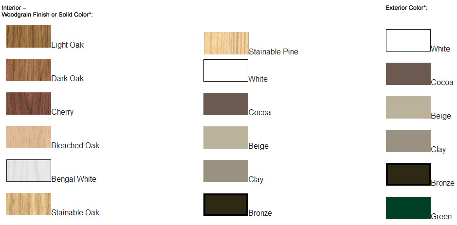 Interior Exterior Finishes and Colors